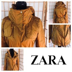 Zara 💥Like New 💥Mustard Yellow Anorak  Parka